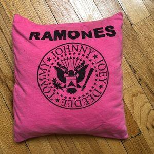 Hot Pink Vintage Ramones Pillow